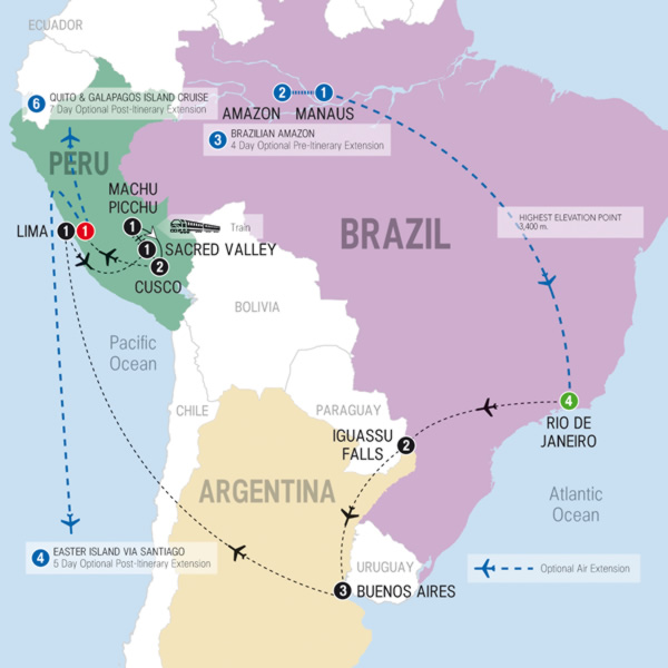 South America Revealed Tour: Map Of South America With Airports At Usa Maps