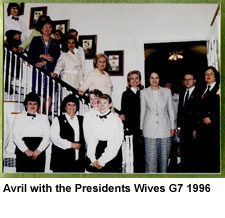 Avril with the Presidents Wives G7 1996